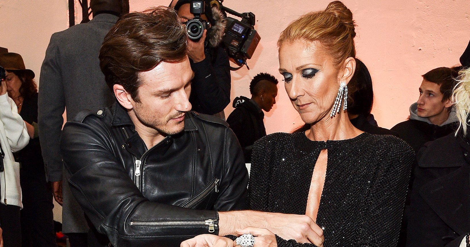 Celine Dion's Backup Dancer Rescues Her From Wardrobe Malfunction During Paris Fashion Week