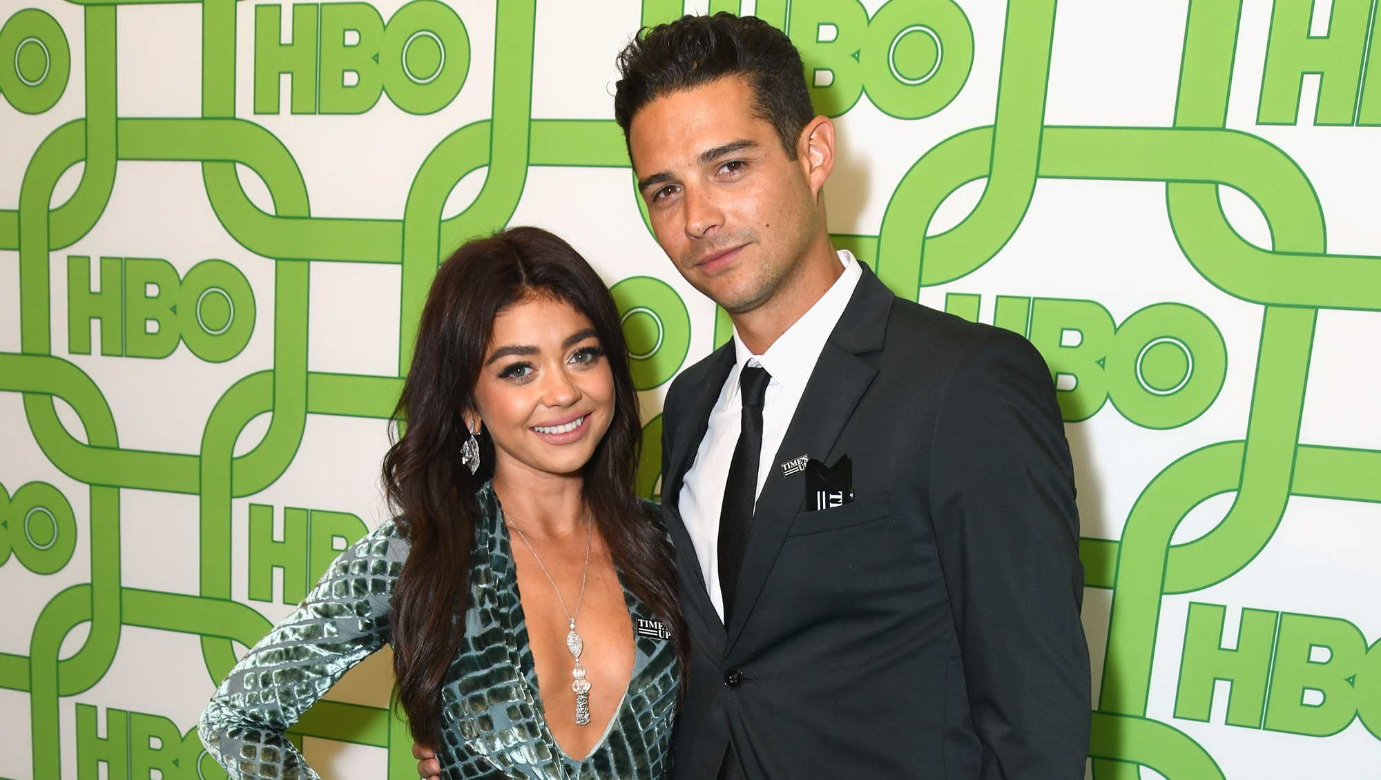 Sarah Hyland and Wells Adams dogs wedding