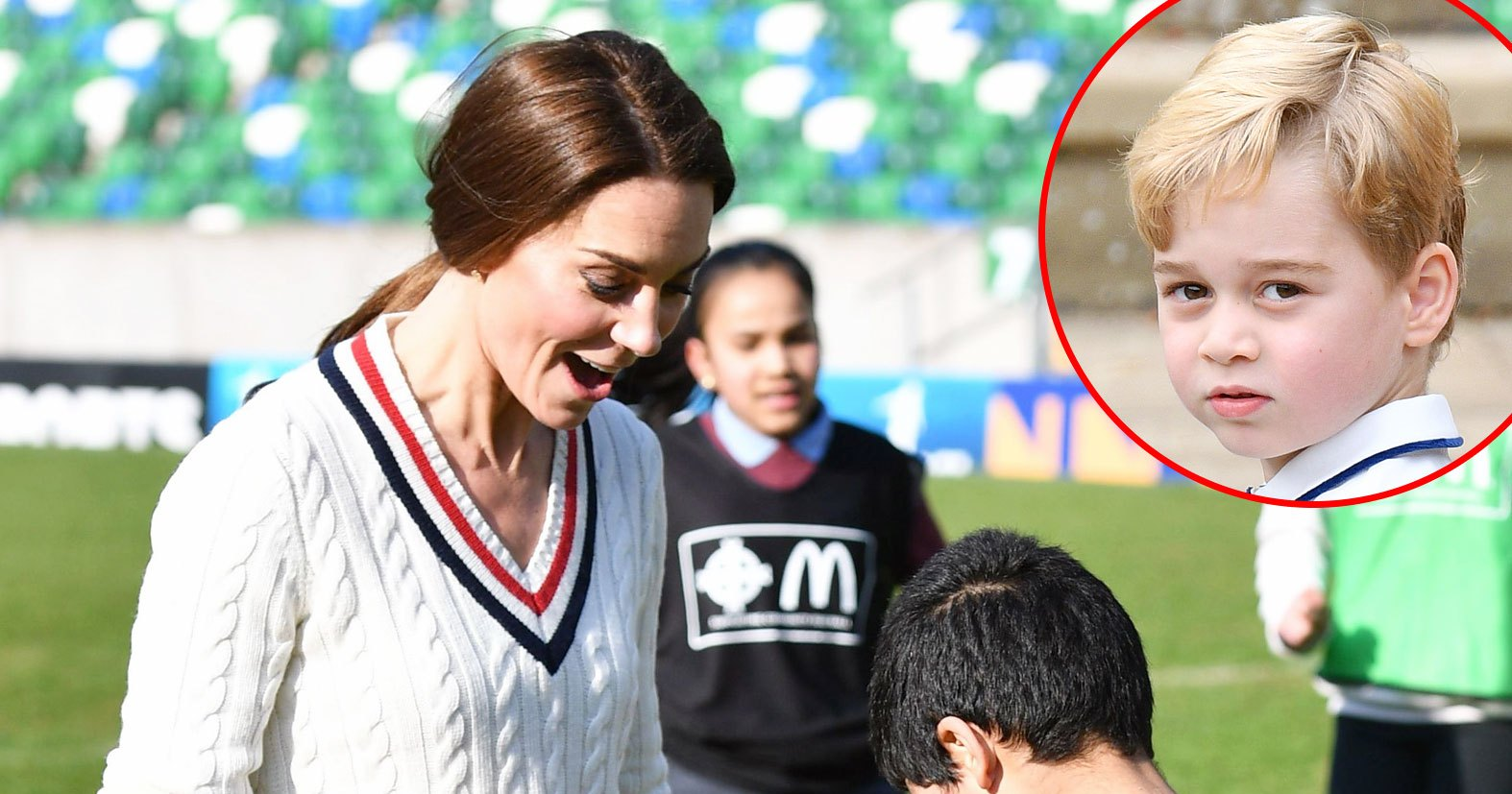 Prince George Tells Duchess Kate She's 'Rubbish' at Playing Soccer