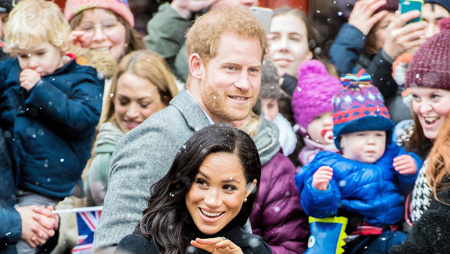 Prince Harry Pregnant Duchess Meghan Snow Bristol
