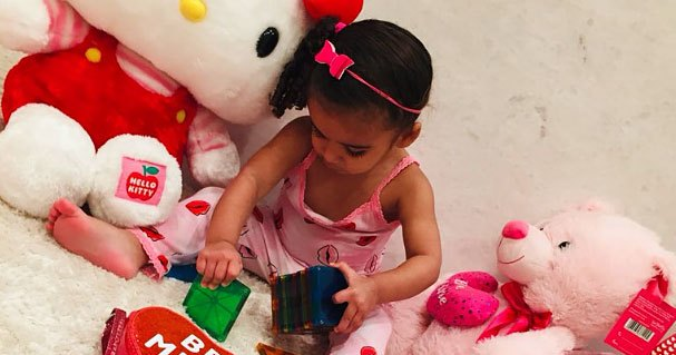 24 Cute Celebrity Kids Celebrating Valentine's Day With Heart PJs, Festive Filters and More!