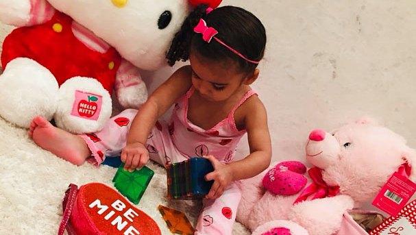Dream Kardashian Cute Celebrity Kids Celebrating Valentine's Day