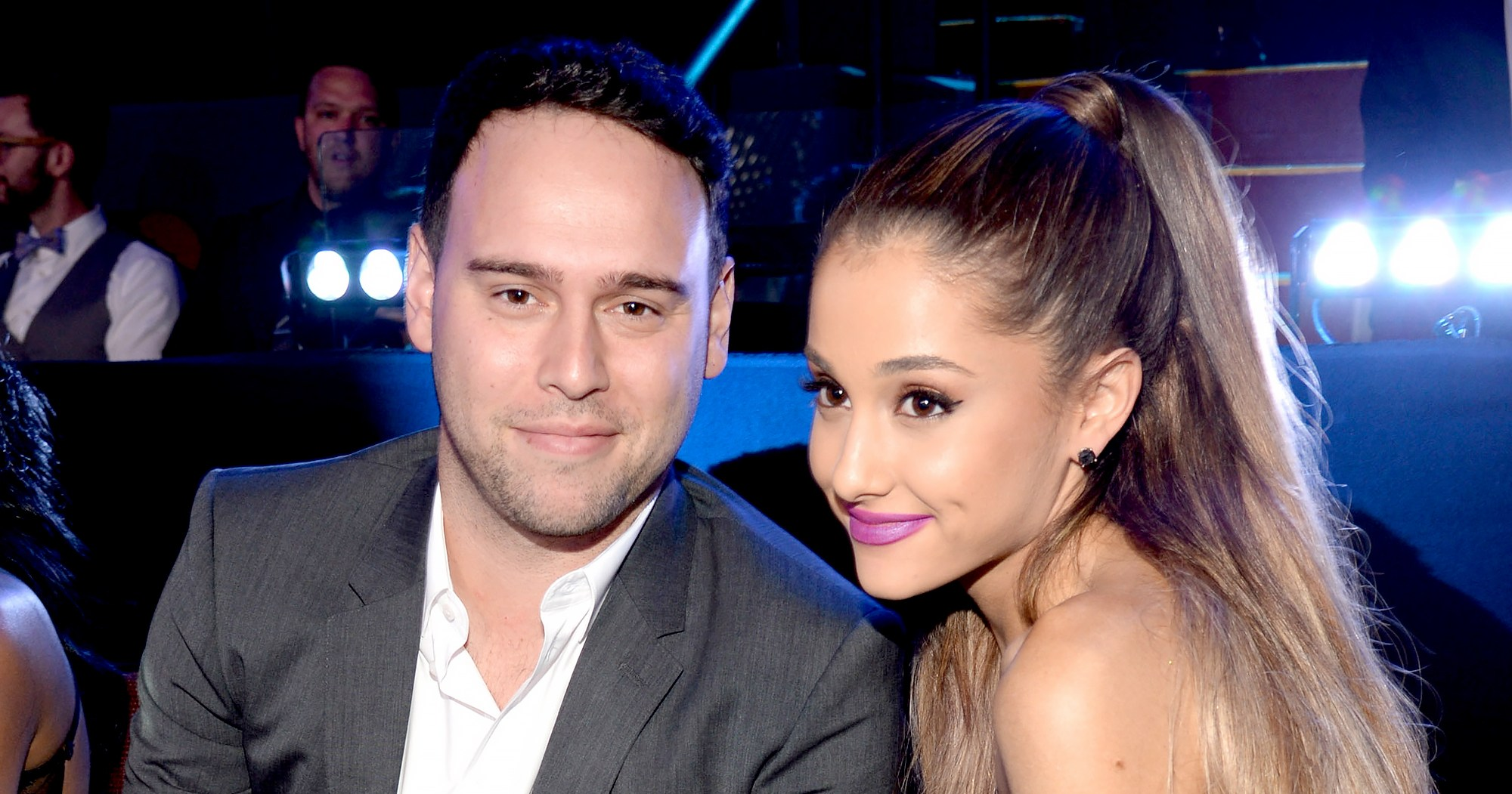 Scooter Braun Shades Grammys While Watching With Ariana Grande