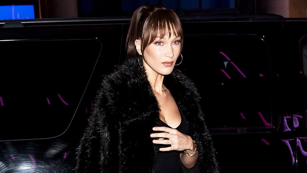 Bella Hadid 7 Black Midi Faux Fur Coats to Get Bella Hadid's Style