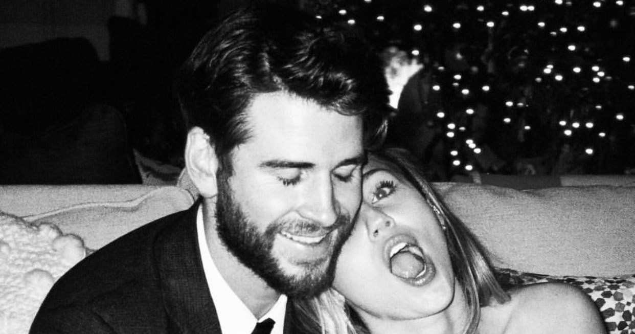 Miley Cyrus Pretends to Smoke, Eat Her Bouquet in Funny New Pics From Wedding to Liam Hemsworth