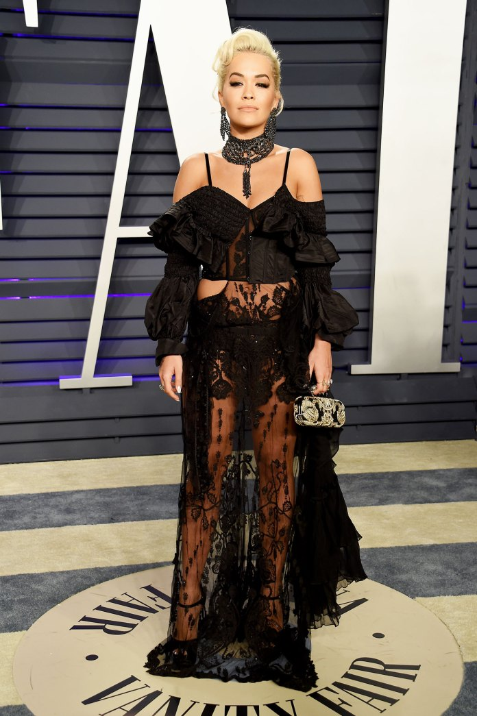 Rita Ora Stars Bring the Sizzling Nearly Naked Dress Trend to the Oscars