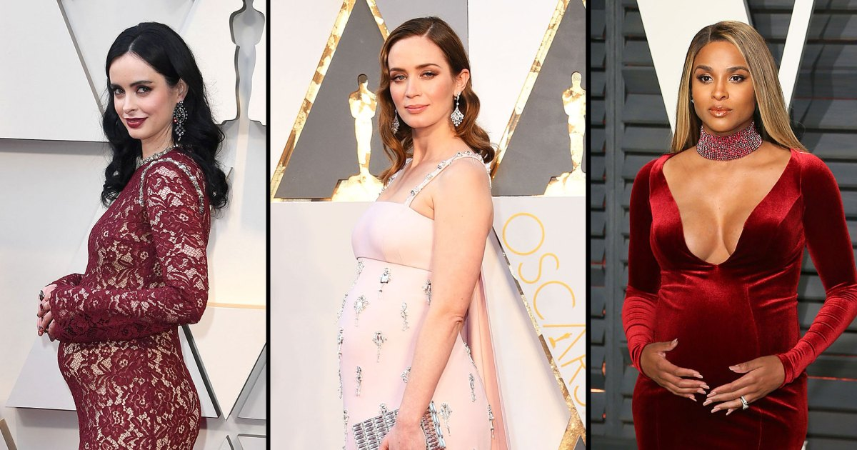 38c1d20fbd3f2 Pregnant Celebrities Showing Off Their Baby Bumps on the Oscars Red Carpet