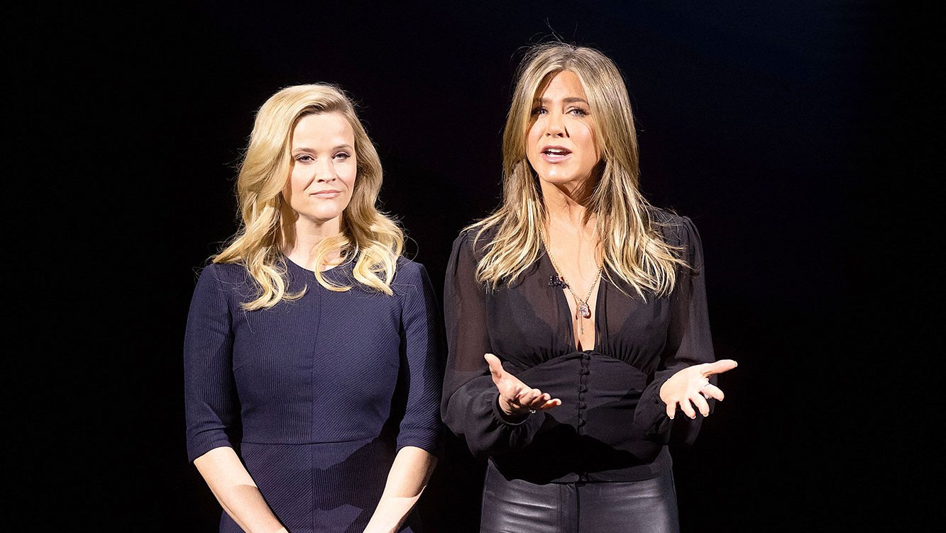 'Friends' Sisters Jennifer Aniston and Reese Witherspoon Hype New TV Project