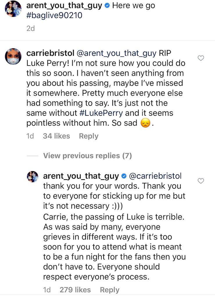 Brian Austin Green Defends Not Posting Tribute To Costar