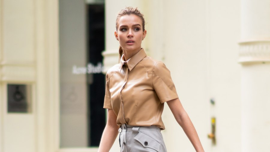 Josephine Skriver is seen during a photoshoot