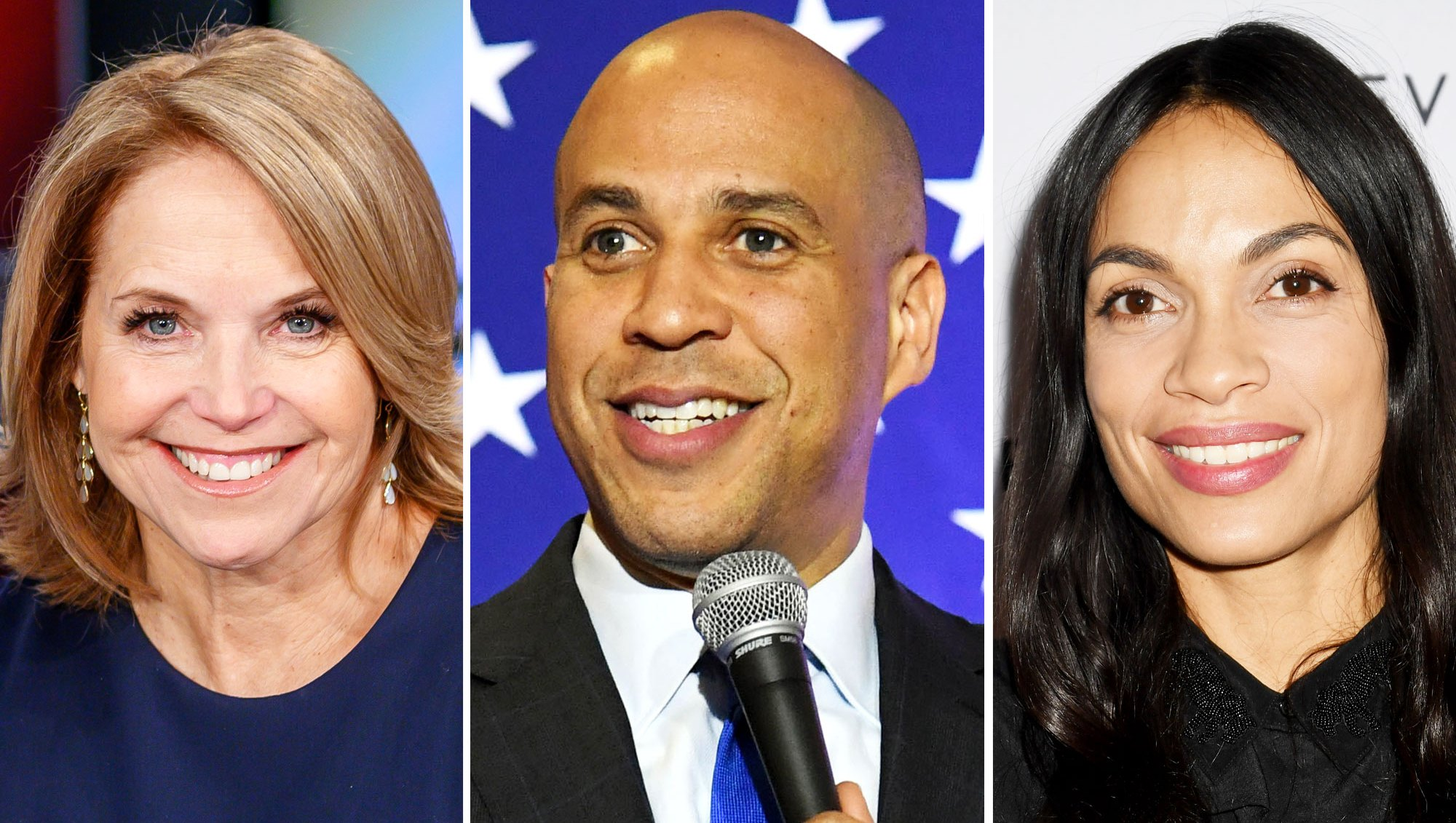 Katie Couric Reveals She Once Went on a Blind Date With Cory Booker as He Raves About 'Incredible' Girlfriend Rosario Dawson