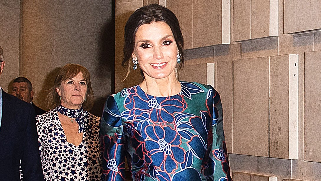 Queen Letizia Shows Off a Spring Trend in London