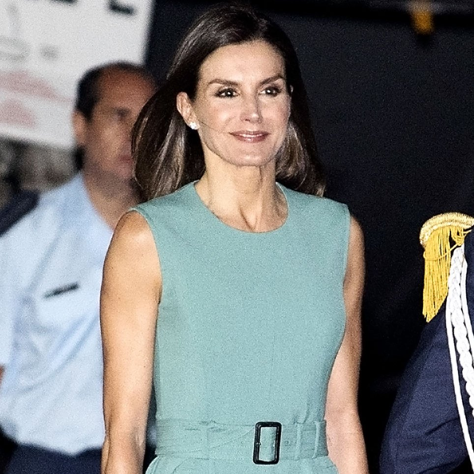 Queen Letizia Continues Her Chic Reign in a Smart Spring Dress