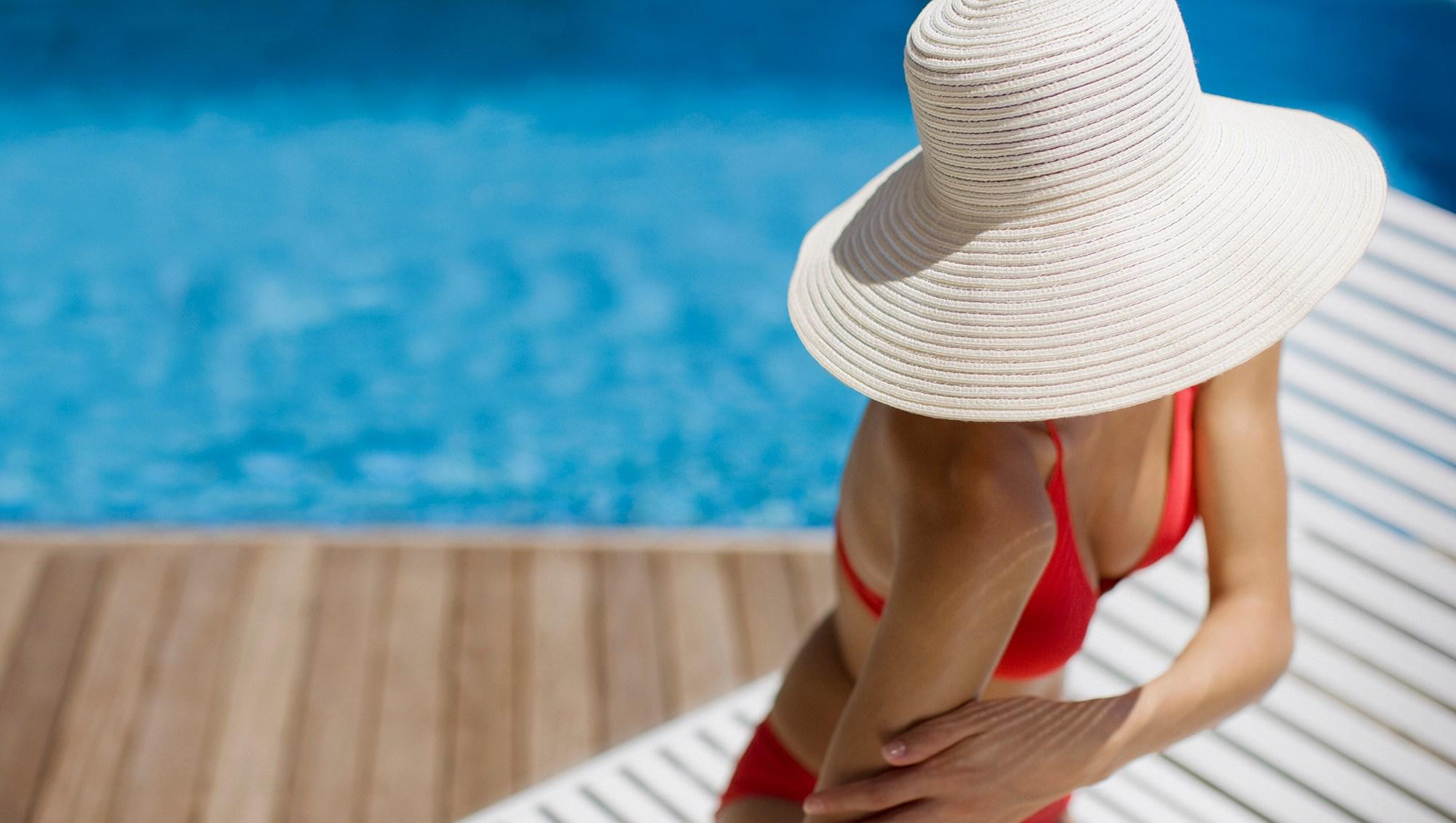 Woman at Pool