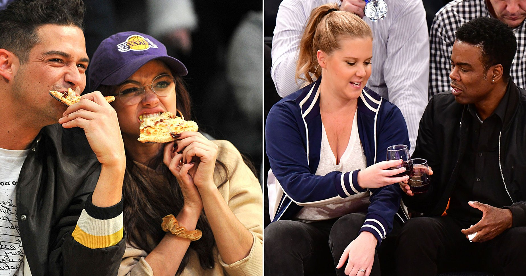 Celebs Eating Courtside: See Justin Bieber, Charlize Theron, Jennifer Lopez and More Snack While Watching Sports