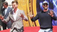 "Chris Hemsworth and Chris Evans attend Marvel Studios' ""Avengers: Endgame"" Cast Place Their Hand Prints"