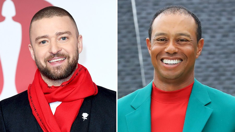 Justin Timberlake Tiger Wood Bonded Over Kids
