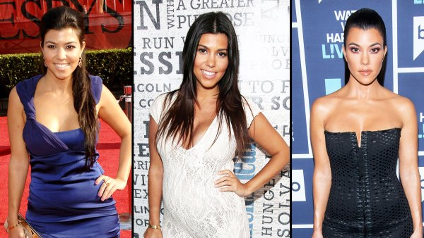 Kourtney Kardashian then and now body evolution