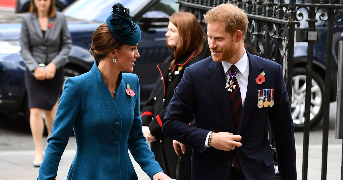 Surprise Appearance! Prince Harry Joins Duchess Kate for ANZAC Day Service