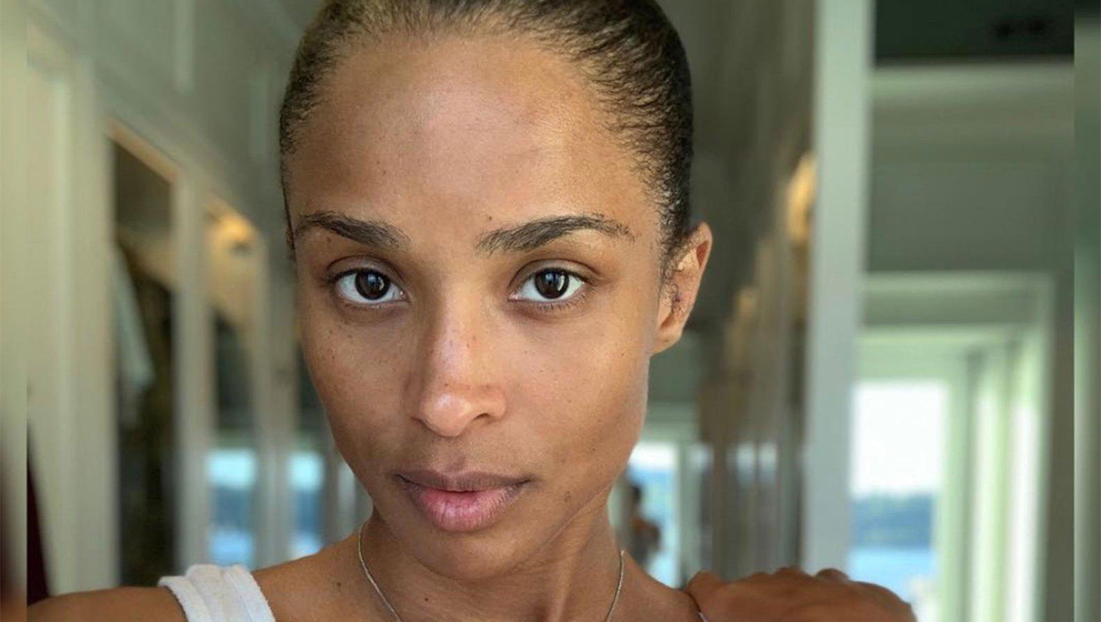 Ciara makeup free selfie