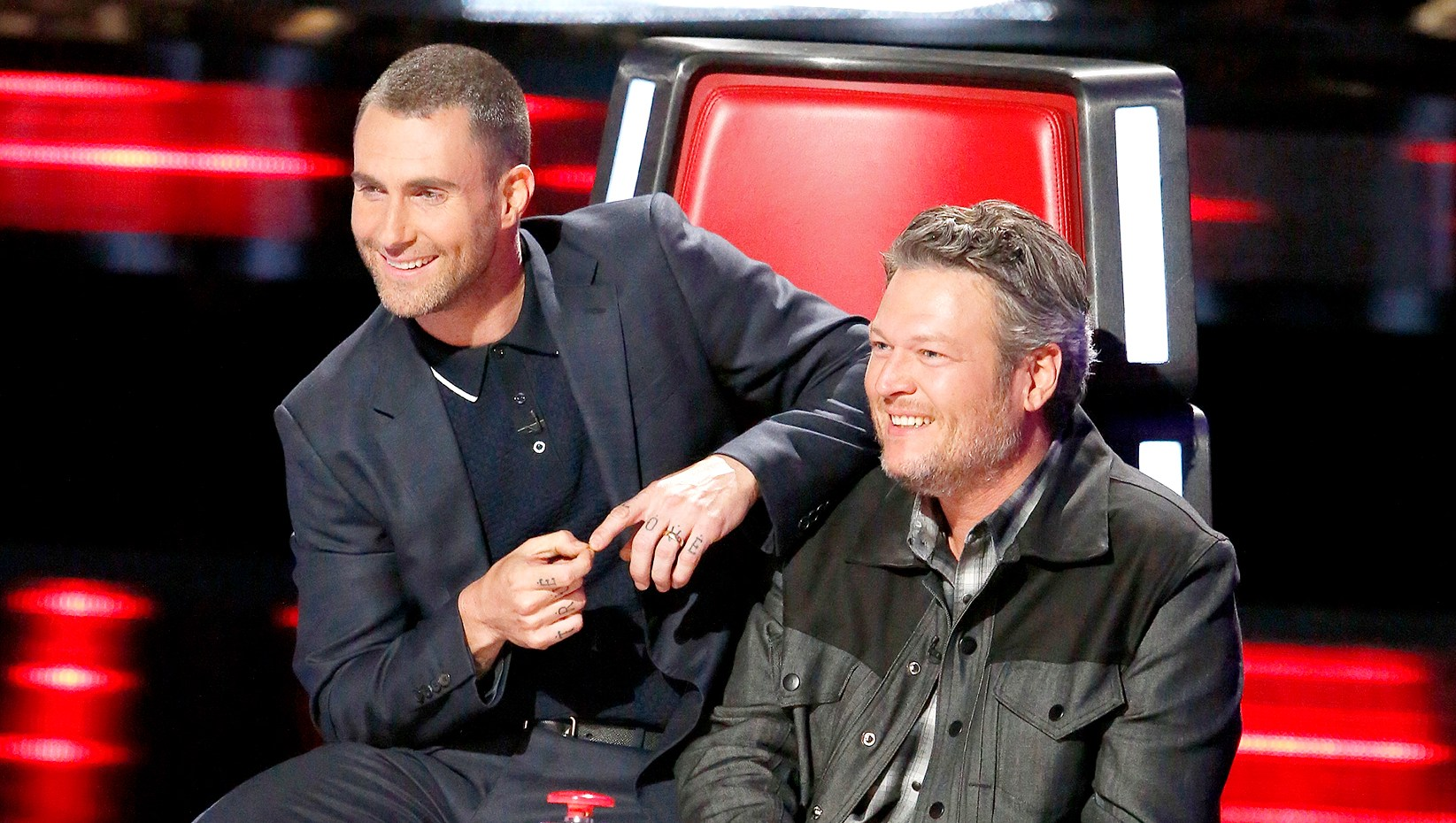 Adam Levine and Blake Shelton on The Voice