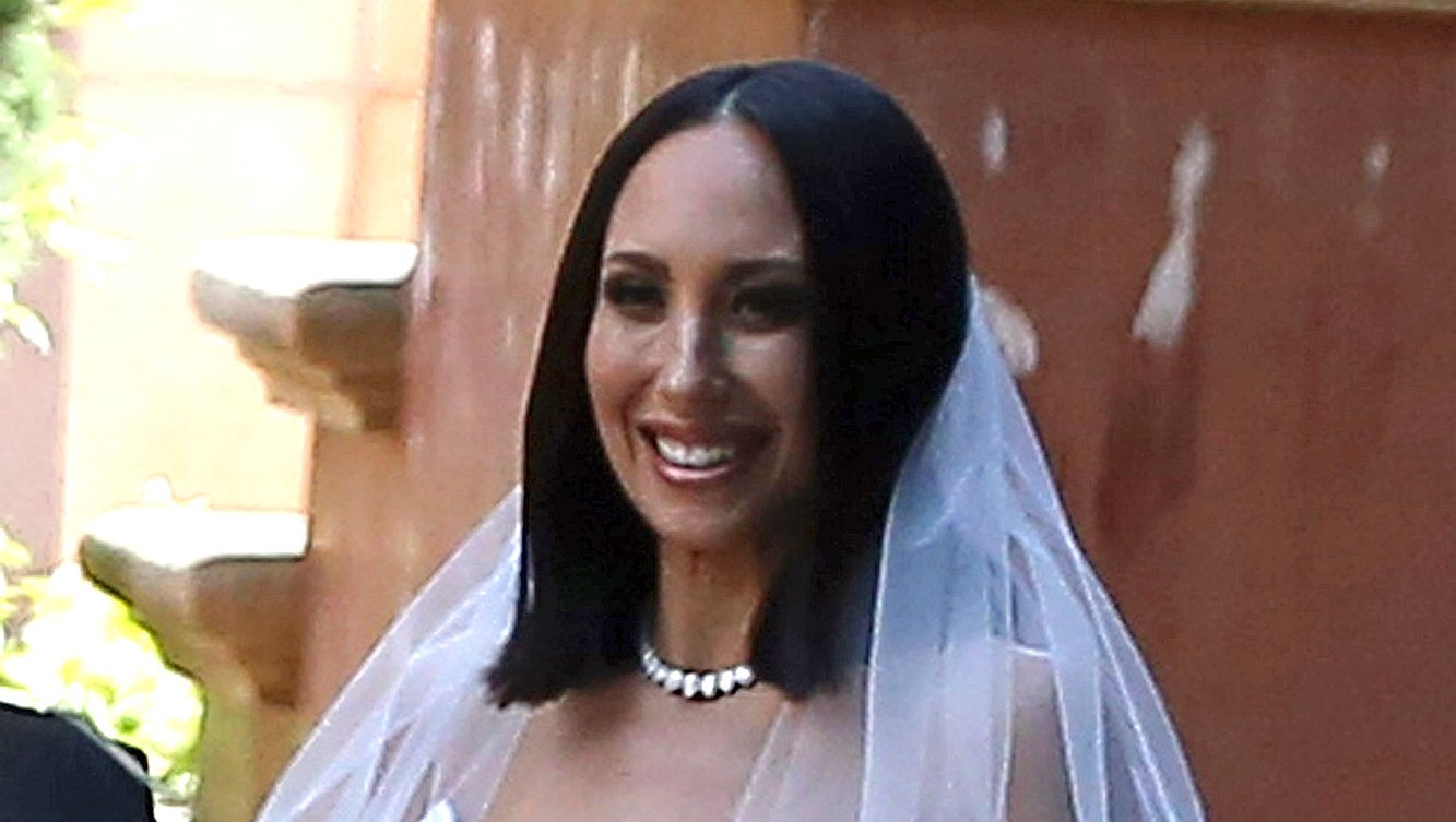 Cheryl Burke at her wedding to Matthew Lawrence