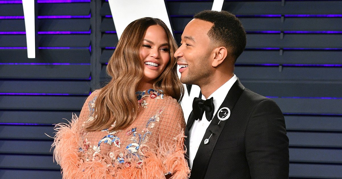 Nearly Nude Pregnant Chrissy Teigen Shares Behind The