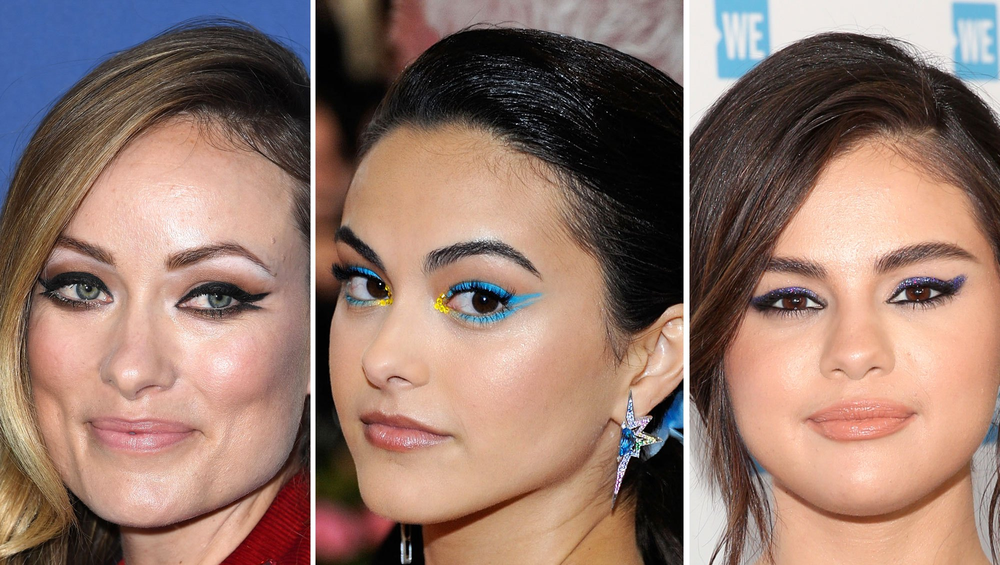Olivia Wilde Camila Mendes Selena Gomez Fresh Cat Eye
