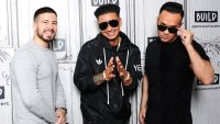 Vinny Guadagnino, Paul 'Pauly D' Delvecchio and Mike 'The Situation' Sorrentino