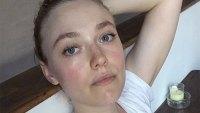 Dakota Fanning No Makeup Selfie Instagram