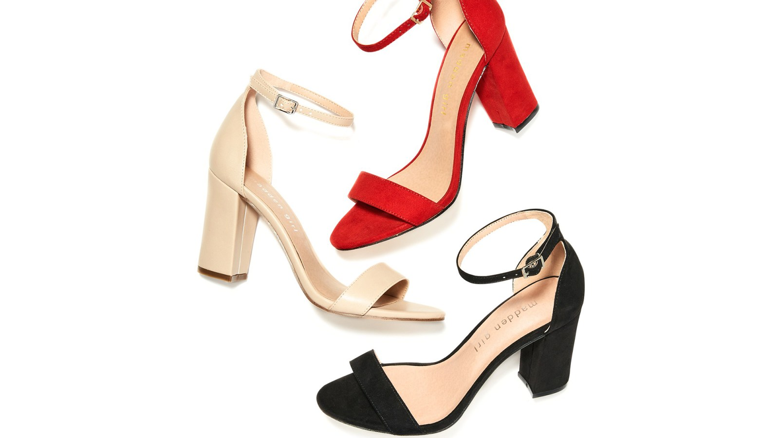 875db99c1f Let Your Personality Shine With These Comfy Block Heel Sandals. By Suzy  Forman. Madden Girl heels
