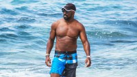 Mike Colter swim trunks shirtless