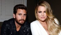 Scott Disick 'Hates' That Khloe Kardashian Has Been 'Burned by Men' Over the Years Calvin Klein Jeans Leather Jacket White Dress