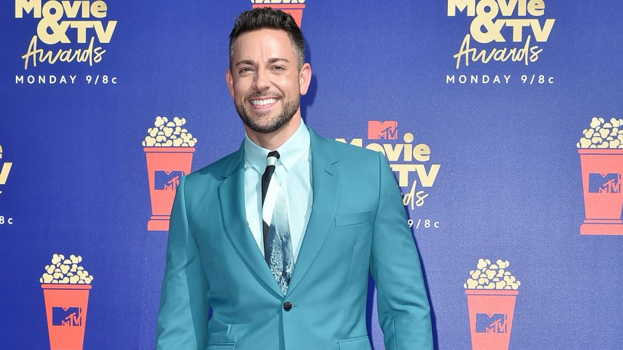 Zachary Levi Teal Suit Beard MTV Move and TV Awards 2019