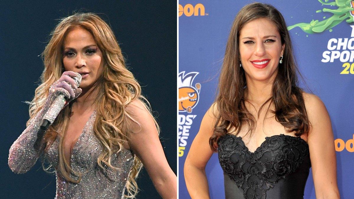 Jennifer Lopez Gives U.S. Women's Soccer Player Carli Lloyd a Lap Dance After World Cup Win