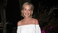 Sharon Stone White Outfit