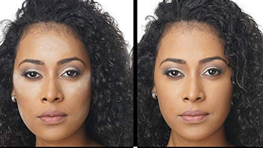 before and after setting powder