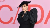 Ashley Graham All Black, Large Black Hat Claps Back