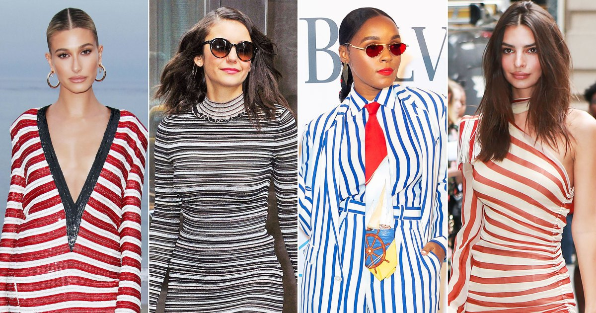 Stars and Stripes: Hollywood MVPs Make a Statement With a Fresh Take on a Classic Pattern