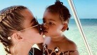 Khloe Kardashian and True Thompson Twinning Instagram