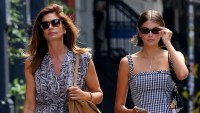 Kaia Gerber steps out with her parents to grab some lunch in NYC