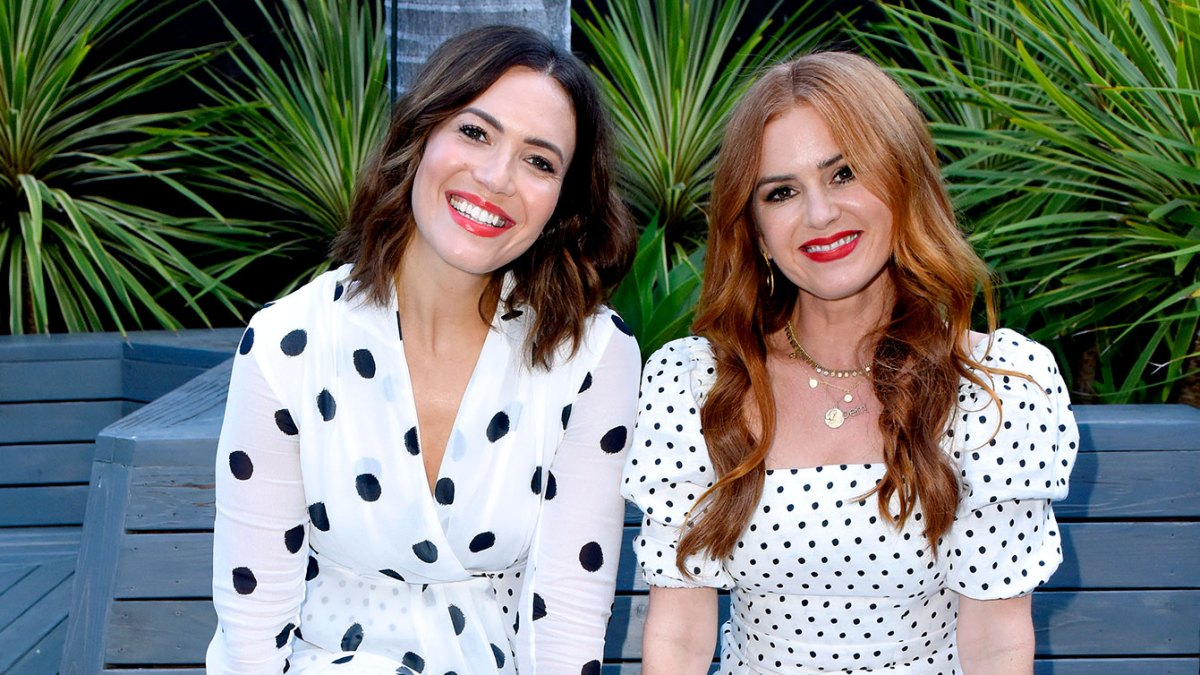 Mandy Moore and Isla Fisher Stunned in Polka Dot Dresses in Beverly Hills