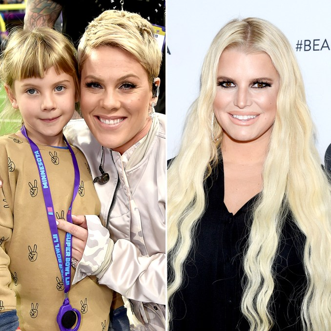 pink dyes daughter's hair after jessica simpson is mom-shamed