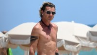 Shirtless Gavin Rossdale On Beach