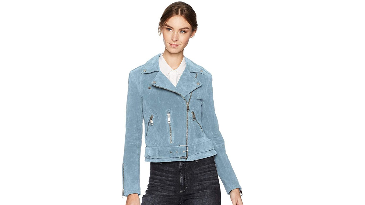 This Genuine Suede Moto Jacket Comes in So Many Colors and Starts Under $65