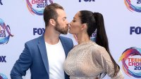 Artem Chigvintsev and Nikki Bella Kissing