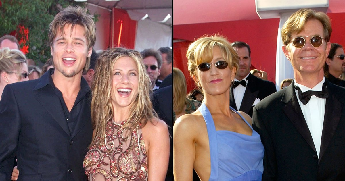 Jennifer Aniston, William H. Macy, Felicity Huffman and More Throwback Photos of Celebrities on the Emmys Red Carpet