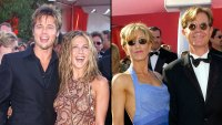 Throwback Emmys Brad Pitt and Jennifer Aniston William H. Macy and his wife Felicity Huffman