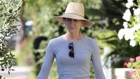 Felicity Huffman Spotted for the First Time Since Being Sentenced to Prison in College Admissions Case Sun Hat Sunglasses Adidas Sneakers