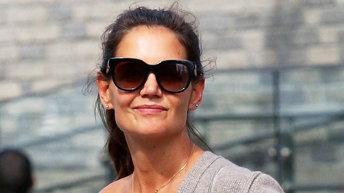 Katie Holmes' Cashmere Bra Sold Out in an Hour After Pictures of Her Wearing It Were Released